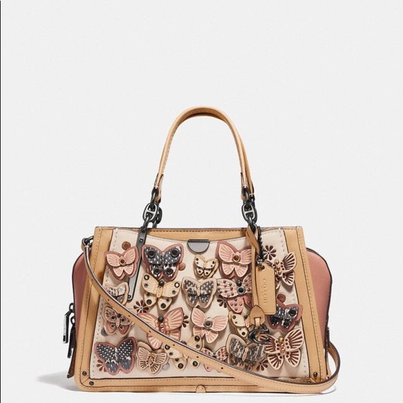 Rare Coach Dreamer With Butterfly Snakeskin Detail